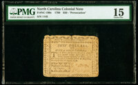 North Carolina August 8, 1778 $50 Persecution the Ruin of Empires PMG Choice Fine 15