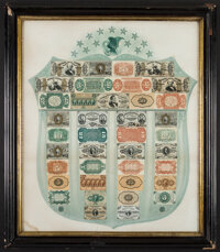 Fr. 1382 Fractional Currency Shield, With Green Background