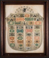 Fr. 1382 Fractional Currency Shield, With Gray Background
