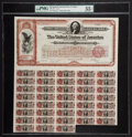 $20 Spanish-American War 3% Coupon Bond of 1898 Hessler X188G PMG About Uncirculated 55 EPQ