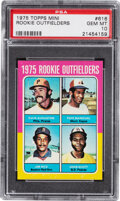 Baseball Cards:Singles (1970-Now), 1975 Topps Mini Jim Rice - Rookie Outfielders #616 PSA Gem Mint 10....