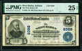 West Baden, IN - $5 1902 Plain Back Fr. 598 The West Baden National Bank Ch. # 6388 PMG Very Fine 25 EP
