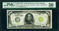 Fr. 2211-G $1,000 1934 Light Green Seal Federal Reserve Note. PMG Very Fine 30