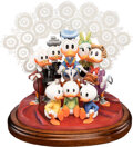 Memorabilia:Miscellaneous, Carl Barks Lavender and Old Lace Limited Edition Scrooge McDuck and Family Figurine and Matching Signed Lithograph... (Total: 2 Items)