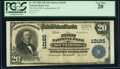 National Bank Notes:New York, Southampton, NY - $20 1902 Plain Back Fr. 654 The First National Bank Ch. # 10185 PCGS Very Fine 20.. ...