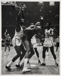 Basketball Collectibles:Photos, 1964 Wilt Chamberlain and Bill Russell Original Photograph by Fred Kaplan, PSA/DNA Type 1....