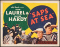 """Movie Posters:Comedy, Saps at Sea (United Artists, 1940). Fine/Very Fine. Title Lobby Card (11"""" X 14""""). Comedy.. ..."""