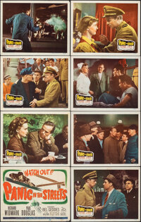 """Panic in the Streets (20th Century Fox, 1950). Overall: Very Fine-. Lobby Card Set of 8 (11"""" X 14""""). Film Noir..."""