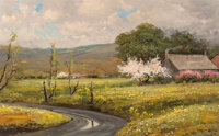 Robert William Wood (American, 1889-1979) Apple Blossom Time Oil on canvas 24 x 36 inches (61.0 x