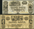 Obsoletes By State:Louisiana, New Orleans, LA- New Orleans Canal & Banking Company $10; $20 18__ Remainders Choice Crisp Uncirculated.. ... (Total: 2 notes)