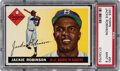 Baseball Cards:Singles (1950-1959), 1955 Topps Jackie Robinson #50 PSA Mint 9 - Only One Higher. ...