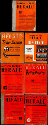 "Motion Picture Herald Magazine Lot (Quigley Publications, 1931-1941). Magazines (7) ( Pages, 9.5"" X 12.25""). M..."