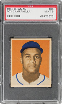 1949 Bowman Roy Campanella #84 PSA Mint 9 - Only Two Higher
