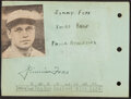 Autographs:Others, Jimmie Foxx Signed Cut....