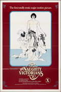 """Movie Posters:Adult, The Naughty Victorians (Hawthorne International, 1975). Folded, Overall: Very Fine-. One Sheet (27"""" X 41"""") & Uncut Ad Supple..."""