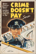 """Movie Posters:Miscellaneous, Crime Doesn't Pay Series (MGM, 1940). Folded, Fine-. Stock One Sheet (27"""" X 41""""). Miscellaneous.. ..."""