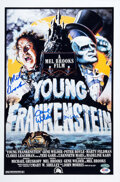 Movie/TV Memorabilia:Autographs and Signed Items, Young Frankenstein Cast Signed Promo Poster. ...