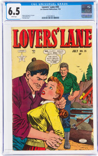 Lovers' Lane #35 (Lev Gleason, 1953) CGC FN+ 6.5 White pages