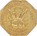 Territorial Gold , 1852 $50 RE Humbert Fifty Dollar, Reeded Edge, 887 Thous., AU50 PCGS. K-11, R.5....