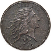 1793 1C Wreath, Vine and Bars Edge, S-9, B-12, R.2 -- Corroded -- NCS. XF Details....(PCGS# 35459)
