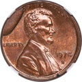 1974-S 1C Cent -- Obverse Die Break with Retained Piece of Die on Reverse -- MS63 Red and Brown NGC