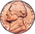 1976-S 5C Nickel -- Struck on a Cent Planchet -- PR68 Red Ultra Cameo NGC. 3.1 grams, the legal weight of a copper cent...