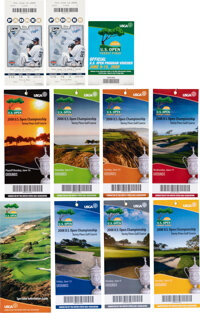 2008 U.S. Open Golf Championship Tickets (8) Set with Extras - Tiger Woods Heroic Victory on Ailing Knee!
