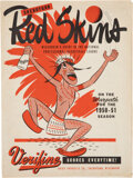 Basketball Collectibles:Programs, 1950-51 Green Bay Packers vs. Sheboygan Redskins Basketball Program - Only Example Known!...