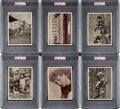 Football Cards:Sets, 1935 R311-2 Football Premiums Complete Set (17). ...