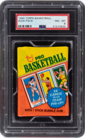 Basketball Cards:Unopened Packs/Display Boxes, 1980 Topps Basketball Unopened Wax Pack PSA NM-MT 8. ...