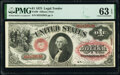 Fr. 20 $1 1875 Legal Tender PMG Choice Uncirculated 63 EPQ