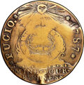 Colonials, 1787 Fugio Cent, New Haven Restrike, Stars in Rings, Gold, VF20 NGC. N. 103-EE, Breen-1345, W-17530, Unique....