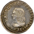 (1659) Maryland Lord Baltimore Groat (Fourpence), Large Bust, Hodder 1-A, W-1010, R.6, AU55 NGC. ...(PCGS# 32)