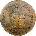1785 Inimica Tyrannis Americana, Small Stars Confederatio, Breen-1124, W-5635, Low R.7, AU50 NGC. ...(PCGS# 846)