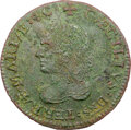 (1659) Maryland Lord Baltimore Denarium (Penny), Hodder 1-A, W-1000, R.7--Environmental Damage--NGC Details. XF. ...(PCG...