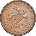 Half Cents, 1837 Half Cent Token, Low-49, HT-73, W. 11-710a, R.1, MS62 Brown NGC. Our EAC grade AU50. ...