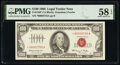 Small Size:Legal Tender Notes, Low Serial Number 2755 Fr. 1550* $100 1966 Legal Tender Star Note. PMG Choice About Unc 58 EPQ.. ...
