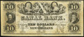 Obsoletes By State:Louisiana, New Orleans, LA- Canal Bank $10 18__ Remainder Crisp Uncirculated.. ...