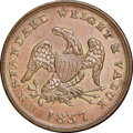 Half Cents, 1837 Half Cent Token, Low-49, HT-73, W. 11-710a, R.1, MS64 Brown NGC. Our EAC grade MS60. ...
