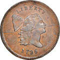 1796 No Pole, C-1, B-1, R.6, MS63+ Brown NGC. CAC. Our EAC grade MS62. ...(PCGS# 35095)