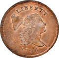 Half Cents, 1796 With Pole, C-2, B-2a, High R.4, MS65 Red and Brown NGC. CAC. Our EAC grade MS67. ...