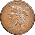 Half Cents, 1793 Liberty Cap Left, Straight Cap, C-4, B-4, R.3, XF45 NGC. CAC. Our EAC grade XF40. ...