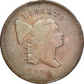 Half Cents, 1795 Plain Edge, Punctuated Date, C-3, B-3, High R.5, VF20 NGC. CAC. Our EAC grade Fine 12. ...