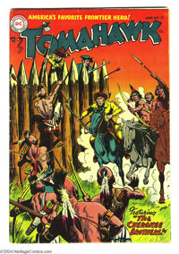 Tomahawk #29 (DC, 1955) Condition: FN-. Fred Ray cover. Frank Frazetta art (three-page story). Overstreet 2004 FN 6.0 va...