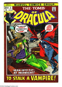 Tomb of Dracula #3 (Marvel, 1972) Condition: VF/NM. The first appearance of Rachel Van Helsing. Gene Colan art. Overstre...