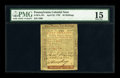 Colonial Notes:Pennsylvania, Pennsylvania April 25, 1759 50s PMG Choice Fine 15....