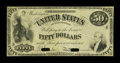 Large Size:Demand Notes, Fr. 198 Hessler ITE8 $50 1863 Interest Bearing Note New FaceProof....