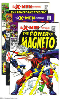 X-Men #43-48 Group (Marvel, 1968) Condition: Average VG+. Artists include Jack Kirby, George Tuska, and Don Heck. Overst...