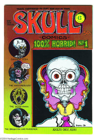 Skull Comics #1 Fred Todd File Copy (Rip Off Press, 1970) Condition: VF/NM. First printing of the classic Underground wi...