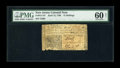 Colonial Notes:New Jersey, New Jersey April 12, 1760 12s PMG Uncirculated 60 Net....